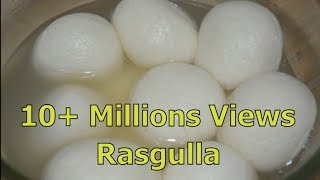 Bengali Rasgulla - Sponge Rasgulla Recipe   घर मे कैसे रसगुल्ले बनाये   How to make yummy rasgulla  