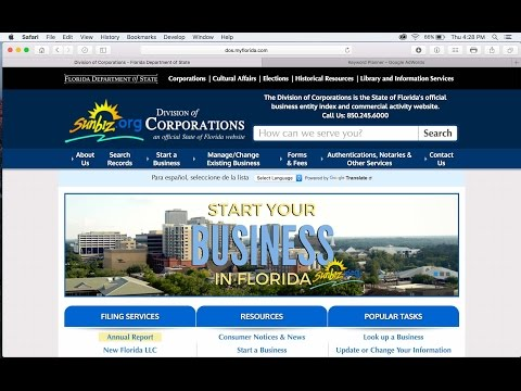 HOW TO START a business in Florida for Under $200.00