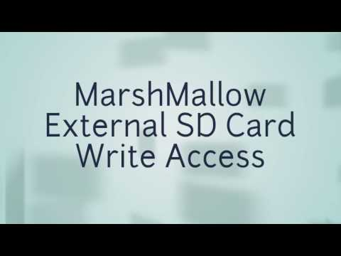 How to get Write Access to External SD Card in Marshmallow ROMs in ANY Android ROOTED Device