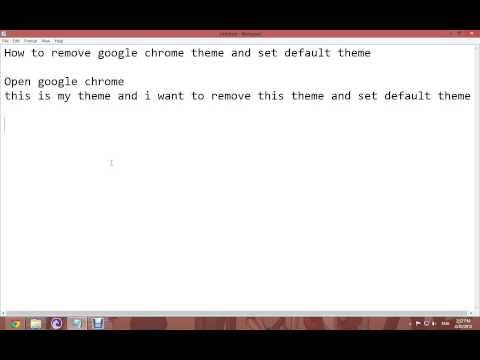 How to remove google chrome theme