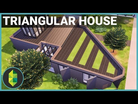 MODERN TRIANGLE HOUSE - The Sims 4 House Building