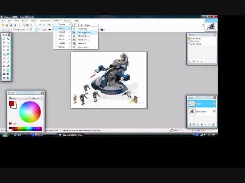 Paint.NET Tutorial: How to make a Laser Gun Effect