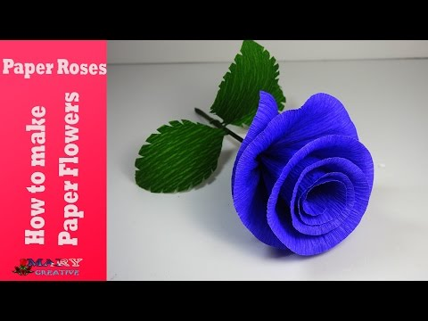 How to make paper flowers | Paper roses -| Paper flower tutorial | flower making
