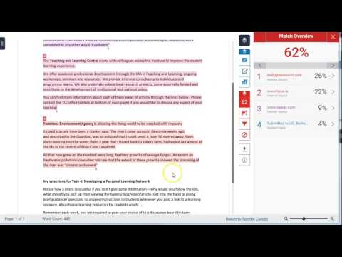 Excluding Sources in Turnitin Feedback Studio