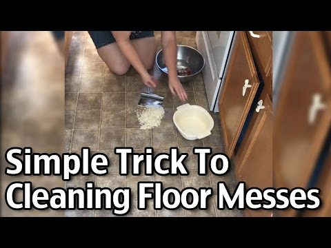 Simple Trick To Cleaning Floor Messes - How To Clean Up A Soap Spill