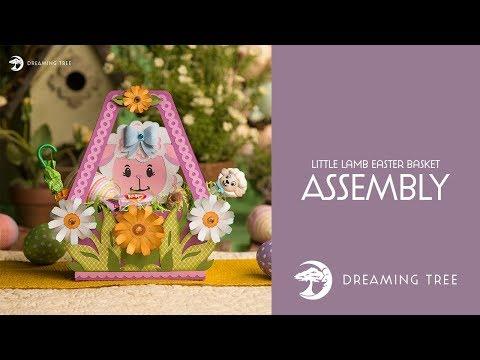 SVG File - Little Lamb Easter Basket - Assembly Tutorial