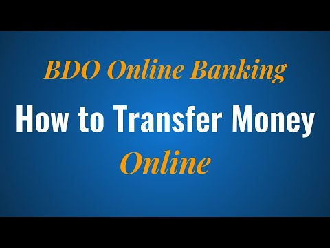 How to Transfer Money Online with BDO Online Banking
