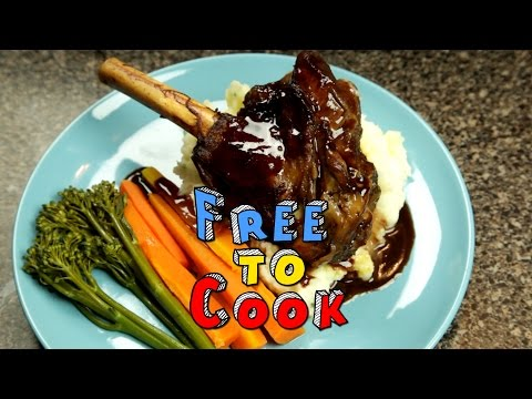 How to Cook Lamb Shanks with a Red Wine Jus and Mash Potatoes