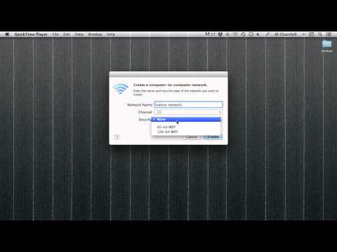How to create a WiFi network on Apple Mac