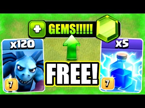 FREE GEMS!? THANKS SUPERCELL! - Clash Of Clans - ELECTRIC MINION EVENT!