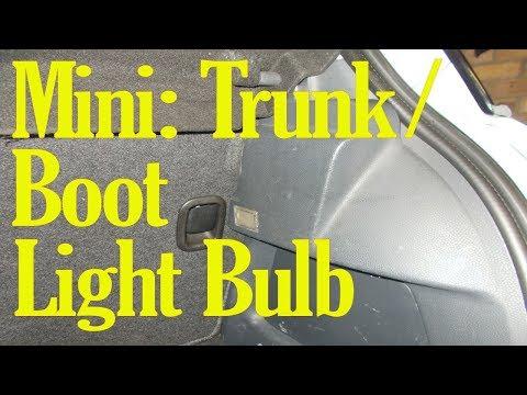 Mini trunk light bulb change