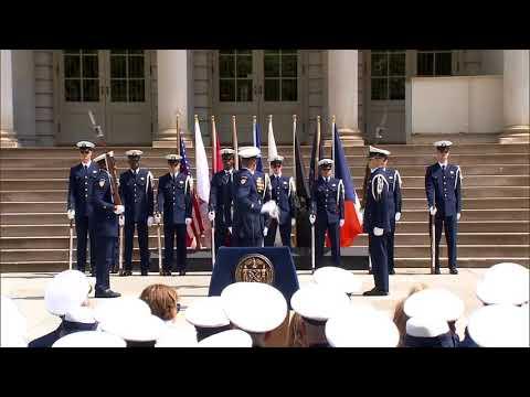U.S. Coast Guard Silent Drill Team in NYC   Coast Guard City Ceremony