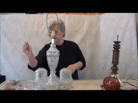 HOW TO MAKE AN ELEGANT CANDLE HOLDER USING A RECYCLED LAMP
