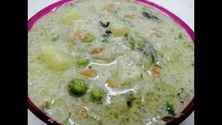 வெஜிடபிள் வெள்ளை குருமா/Vegetable white kurma/kurma recipe in tamil/OWN STYLE COOKING