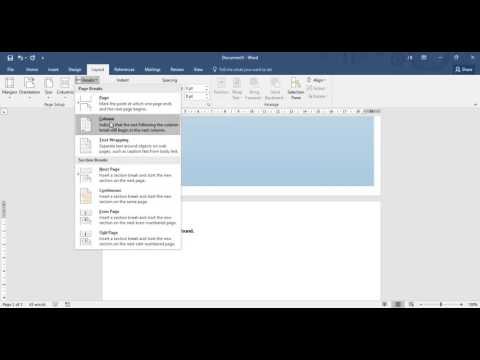 Microsoft Word: how to start coursework
