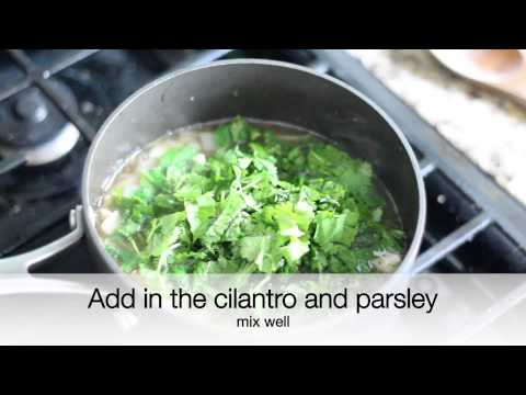 How to make: Cilantro and Parsley Soup