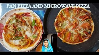 Pan Pizza And Microwave Pizza | How To Make Pan Pizza | Vegan Pizza | Pizza Show | Pizza Recipe