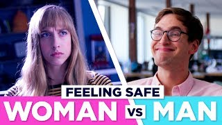 how being in public feels men vs women
