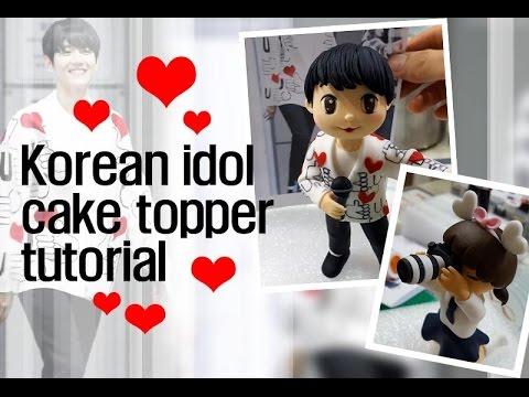 ::sugarcraft::Korean idol 'exo' cake topper tutorial 엑소백현캐릭터만들기