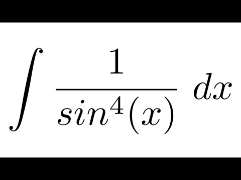 Integral of 1/sin^4(x) (substitution)