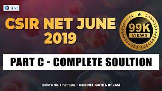 JUNE 2019 LIFE SCIENCE PART C SOLUTION  (1) : CSIR NET LIFE SCIENCE