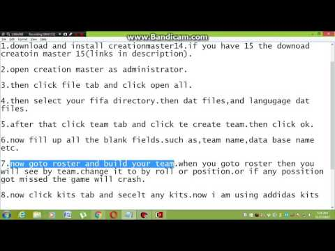 how to create your own team in fifa 14 by cm 15