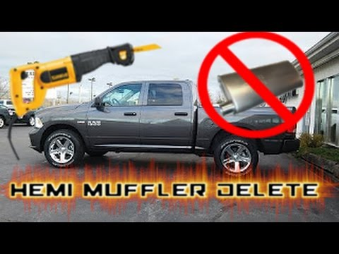 2015 Ram 1500 Hemi 5.7 muffler delete - Sounds Beast - lets take it for a spin