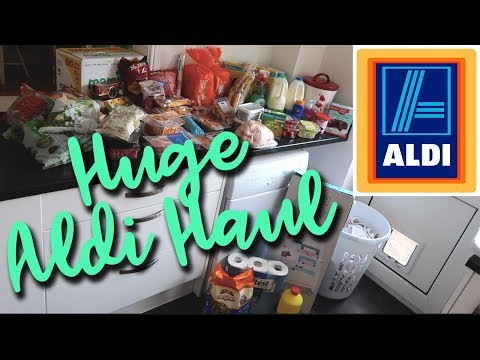 HUGE ALDI HAUL AND SPECIALBUYS - FAMILY OF 4 - STOCKING UP AFTER A WEEK AWAY - A CHILDMINDING MUMMY