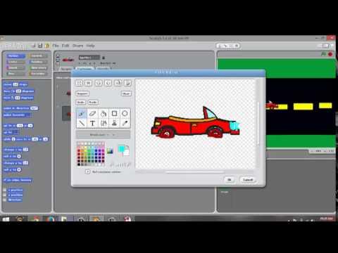 Scratch tutorial make a simple car game part 1