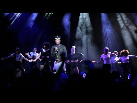 Private Concert ft. Pharrell Williams and Cara Delevingne at the Paris-Salzburg Presentation in NY