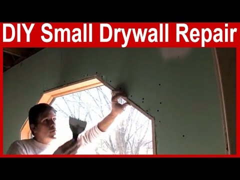 How to Repair Drywall - Small Hole and Scratch