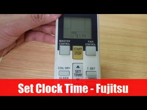 Fujitsu Air Conditioner: How to Set / Adjust Clock Time on Remote Control