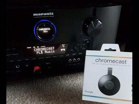 How to connect Google ChromeCast to the TV via an AVR /AMP (Marantz)