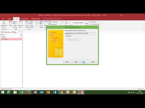 Simple and Cross Tab Query in MS Access 2016 in Hindi
