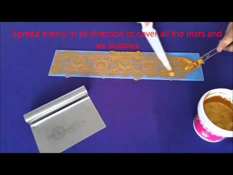 Cake Lace Edible | By Karens UK | Demo using the 3D Blossom Heart Cake Lace Mat