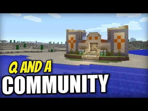 Minecraft - DESERT TEMPLE HOUSE - COMMUNITY QnA - PS4 / XBOX / DISCORD