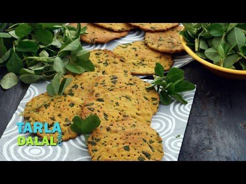 Baked Methi Puris ( Low Calorie ) by Tarla Dalal
