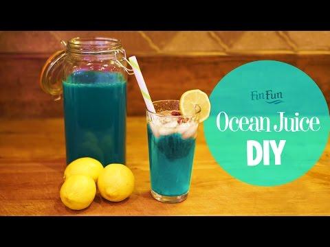 DIY Mermaid Ocean Juice | Blue Raspberry Lemonade | Fin Fun Mermaid Tails