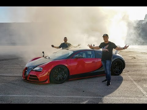 Crazy Bugatti RWD Conversion with Massive Donuts