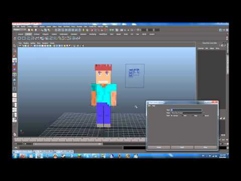 Autodesk maya tutorial minecraft character modeling/rigging part 1