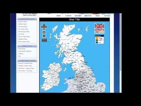 Edit your own UK Postcode map..
