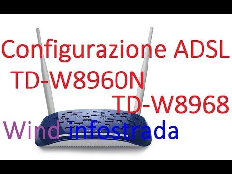 Configurazione ADSL TD-W8960N, TD-W8968