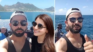 Virat Kohli Anushka Sharma Enjoying Boat Ride With Indian Cricket Team In South Africa