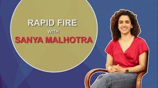 Sanya Malhotra's FUN Rapid Fire | Relationship Advice From Deepika Padukone & Much More
