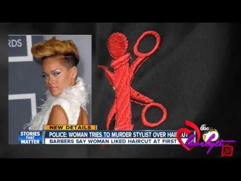 Crazy Cali~ Female Customer Unhappy With Her Rihanna Haircut 'Goes Back To Shoot Barber'