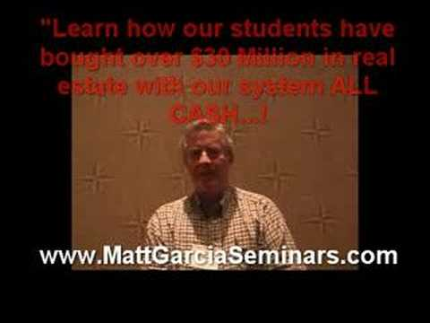 Real Estate Seminars Jacksonville FL *Matt Garcia Seminars*