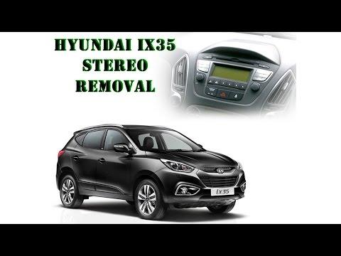 Hyundai IX35 2014 stereo removal