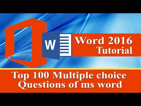 Top 100 Interview questions with answer of ms word 2016