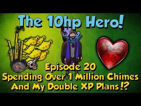 The 10Hp Hero! Spending 1 Million Chimes & DXP Plans! [Runescape 3] Episode #20