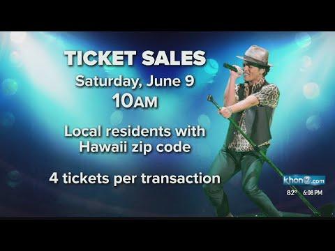 bruno mars ticket sales at aloha stadium